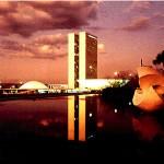 Il Palazzo dei Due Poteri, nella capitale Brasilia